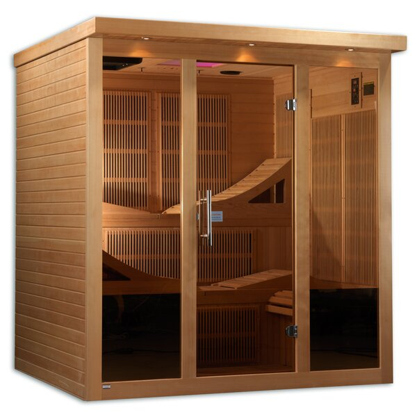 Monaco 6 Person FAR Infrared Sauna by Dynamic Infrared