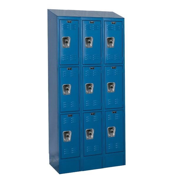 ReadyBuilt II 3 Tier 3 Wide Employee Locker by Hallowell
