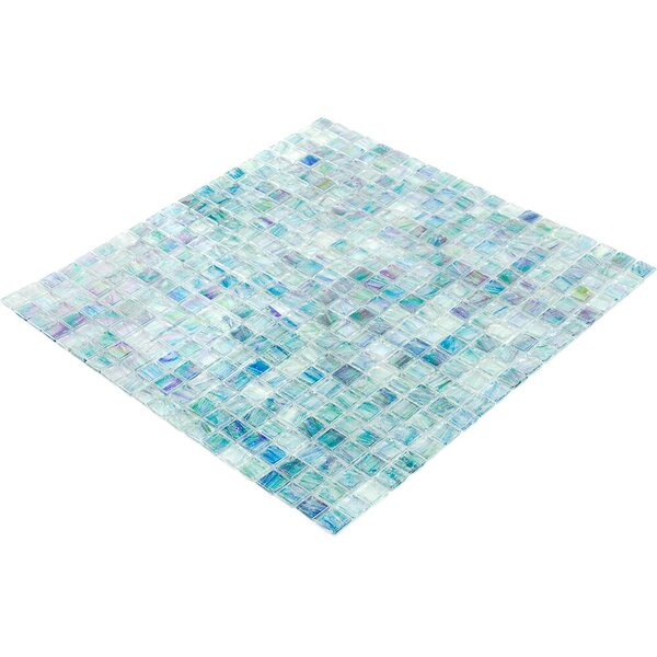 Breeze 0.62 x 0.62 Glass Mosaic Tile in Blue/Green by Splashback Tile