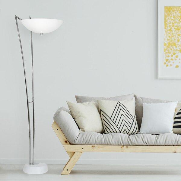 Bergues 74 Torchiere Floor Lamp by Orren Ellis