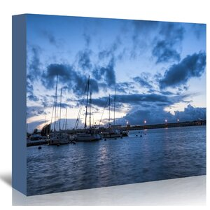 'Harbour Sea Night Ship' Graphic Art Print by East Urban Home