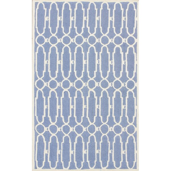 Janine Hand-Tufted Blue/Ivory Area Rug by House of Hampton