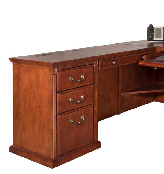 Reynoldsville Office Burnish Left 2 Piece L-Shaped Desk Office Suite by Darby Home Co