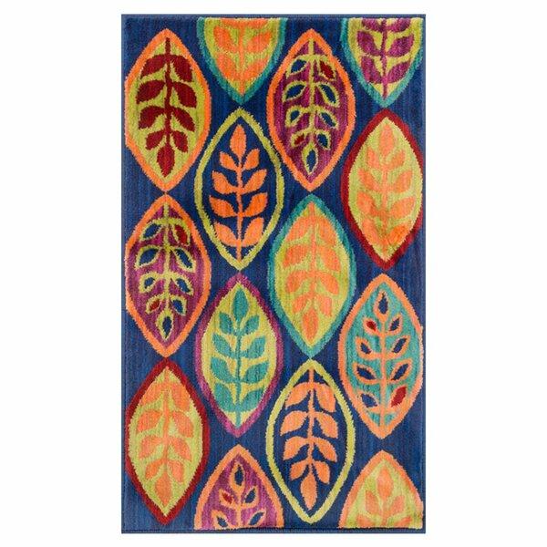 Nanava Blue/Orange Area Rug by Ebern Designs