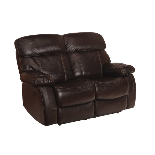 Perryville Leather Reclining Loveseat by Charlton Home
