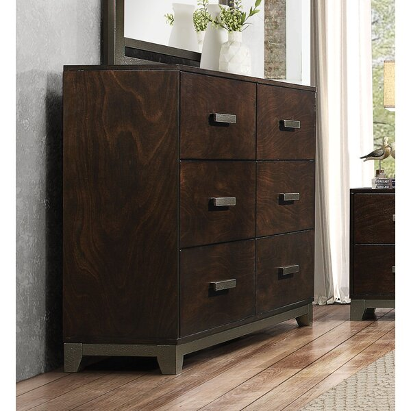 Shirehampton 6 Drawer Double Dresser by Union Rustic