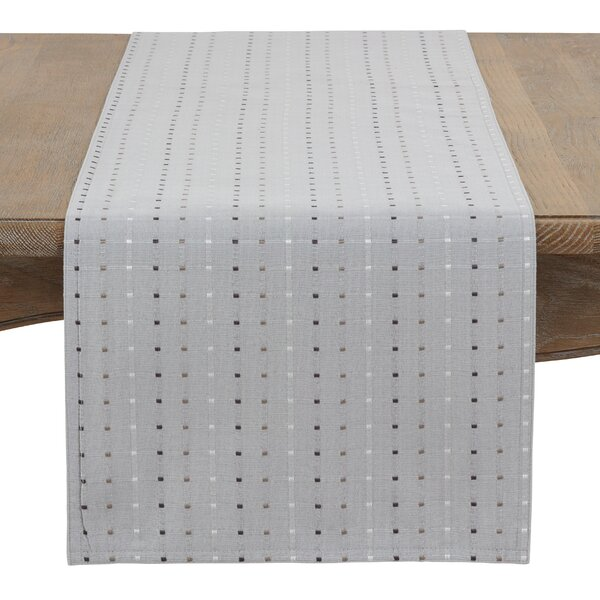 Queensbury Box Stitched Table Runner by Winston Porter