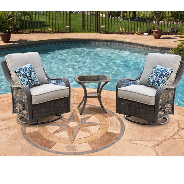 Bibiana 3 Piece Sofa Set with Cushions by Highland Dunes