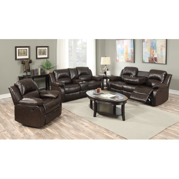 Berta Reclining Living Room Set (Set of 3) by Red Barrel Studio