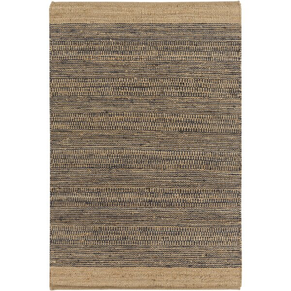Boughner Hand-Woven Navy/Khaki Area Rug by Three Posts