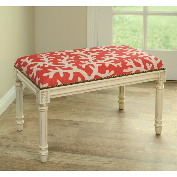 Coastal Upholstered & Wood Bench by 123 Creations