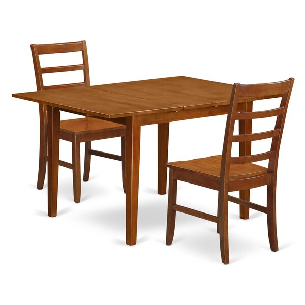 Lorelai 3 Piece Dining Set by Alcott Hill Alcott Hill