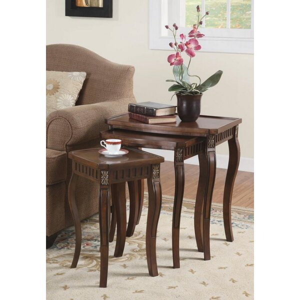Glinda 3 Piece Nesting Table by Canora Grey