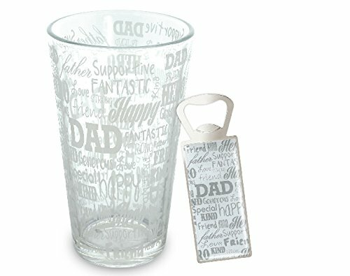 Closson Dad Sentiments Beer 17 oz. 2 Piece Glass and Bottle Opener Set by Red Barrel Studio