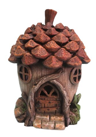 Polyresin Pine cone House with LED Light by Hi-Line Gift Ltd.