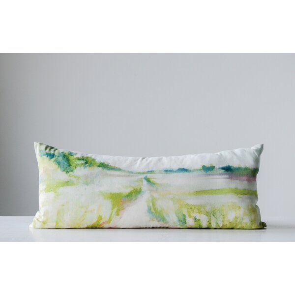 Kraatz Cotton Lumbar Pillow by Winston Porter