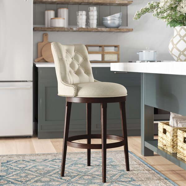 Daniel 30 Swivel Bar Stool with Cushion by Darby Home Co