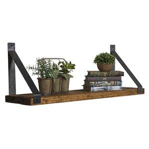pankuri industrial grace angled bracket accent shelf