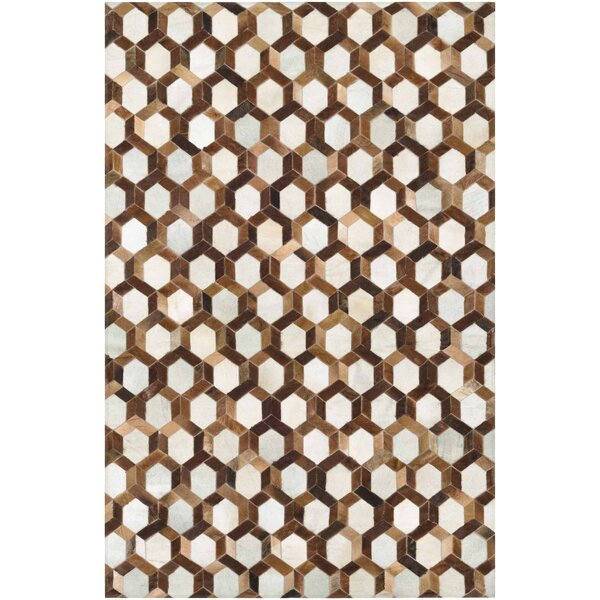 Easthampton Hand-Woven Ivory/Brown Area Rug by Williston Forge