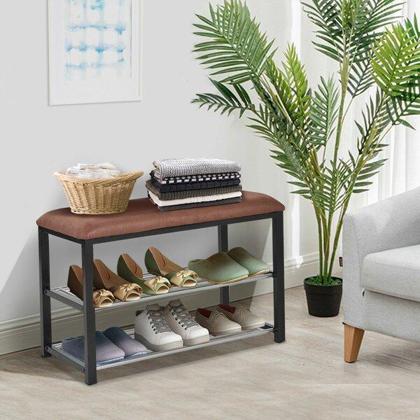 2 Tier Soft Seat Shoe Storage Bench by Winston Porter