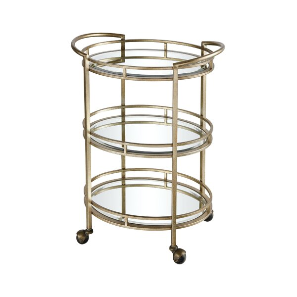 Rayle Bar Cart by Everly Quinn Everly Quinn