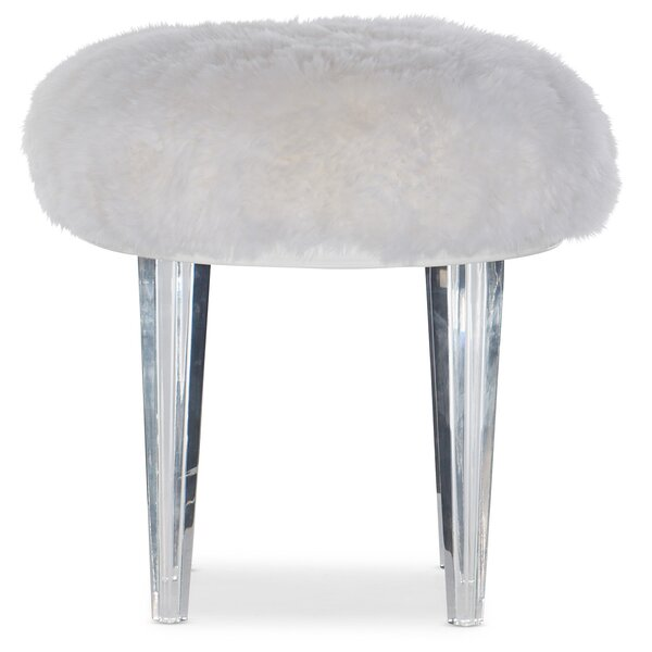 Melange Giselle Leather Ottoman By Hooker Furniture