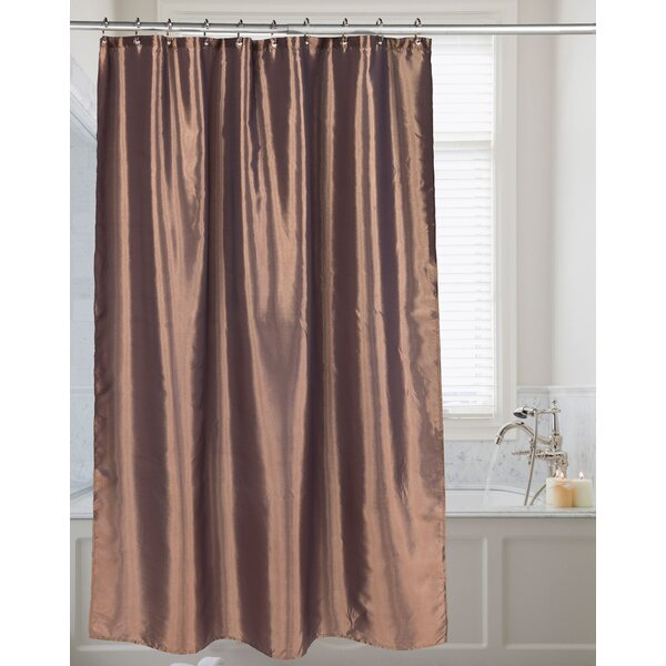 Highgate Faux Silk Shower Curtain by House of Hampton