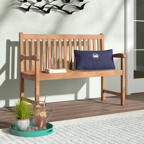 Elsmere Wooden Garden Bench by Beachcrest Home Beachcrest Home