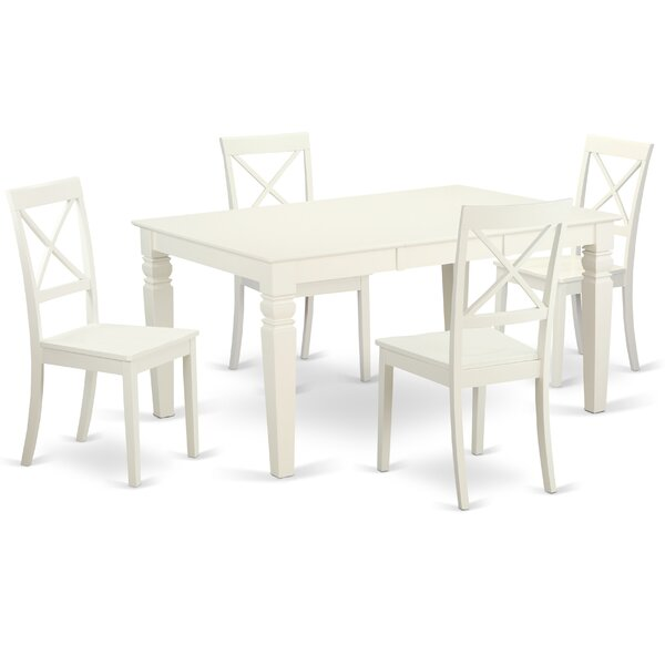 Septimus 5 Piece Solid Wood Dining Set by Alcott Hill