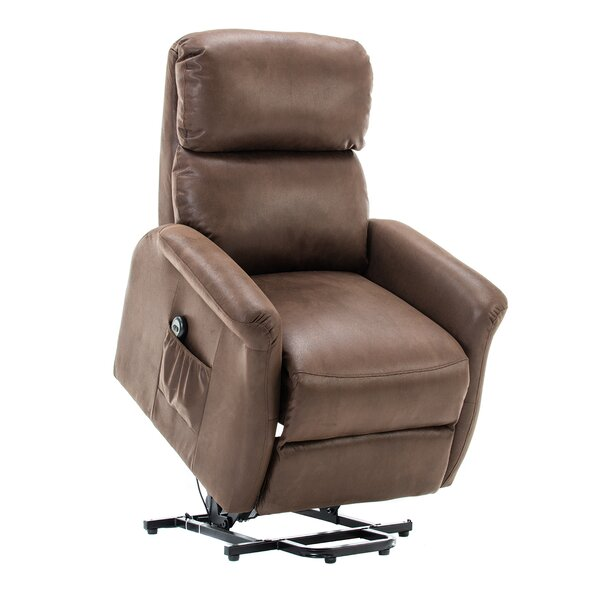 Winbush Classic Lift Glider Power Recliner Soft and Warm Fabric with Remote Control for Gentle Motor by Latitude Run