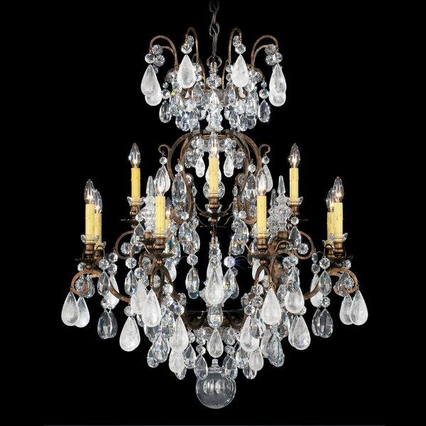 Renaissance Rock 12-Light Candle Style Tiered Chandelier by Schonbek Schonbek