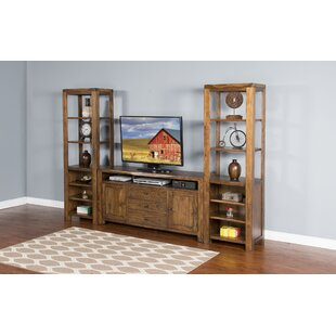 Alsatia Live Edge Pier Multimedia Storage Rack by Loon Peak