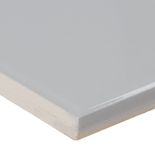 4 x 4 Ceramic Field Tile in Light Grey by Itona Tile
