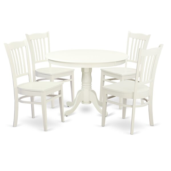 Artin Rubber Solid Wood Dining Set by Andover Mills Andover Mills