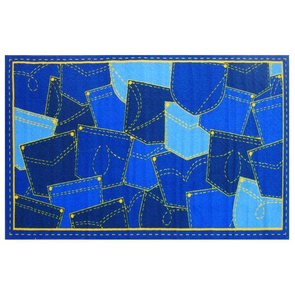 Fun Time Jean Pocket Blue Area Rug by Fun Rugs