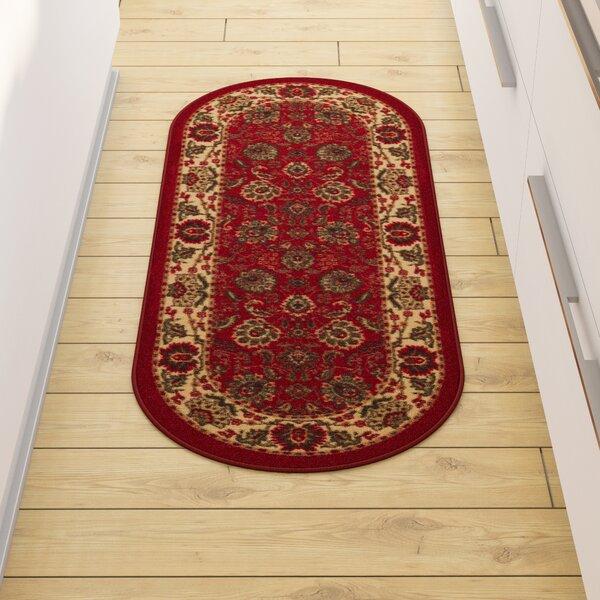 Leonel Traditional Oriental Design Dark Red Area Rug by Astoria Grand
