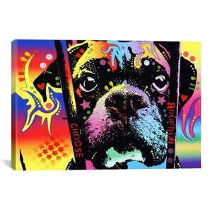 Choose Adoption BoxerGraphic Art on Canvas by East Urban Home
