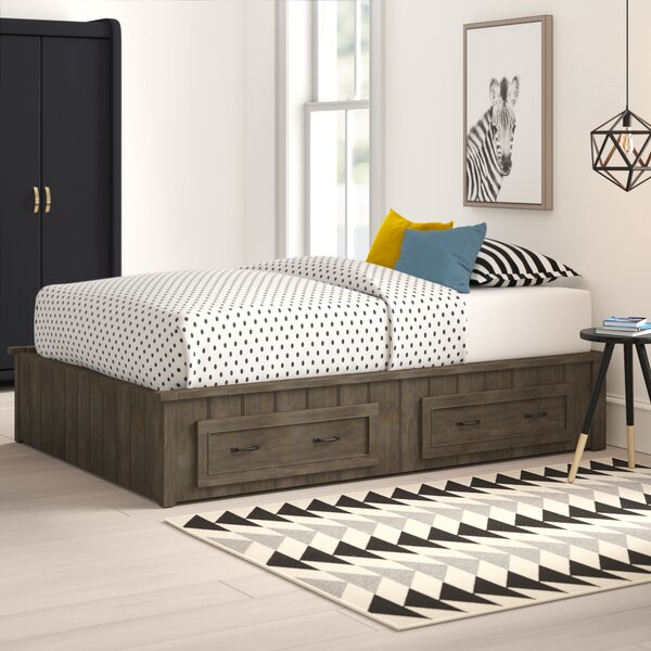 Holman Platform Bed With Drawers By Mack & Milo