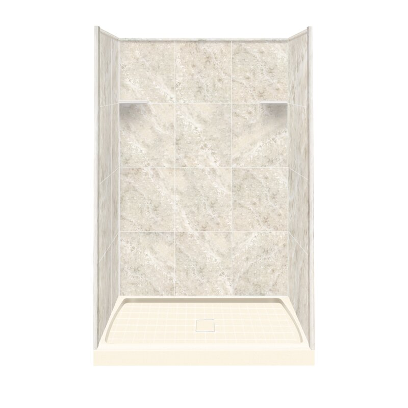 Samson Solid Surface 75 Quot X 48 Quot X 36 Quot Three Panel Shower