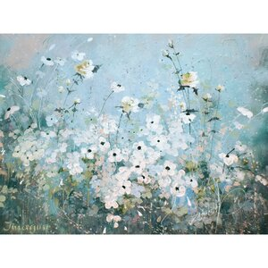 'Spring Gardens' Print on Wrapped Canvas by August Grove