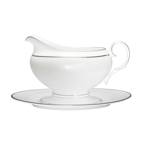 Ventina 16 Ounces 2 Piece Gravy Boat Set by Noritake