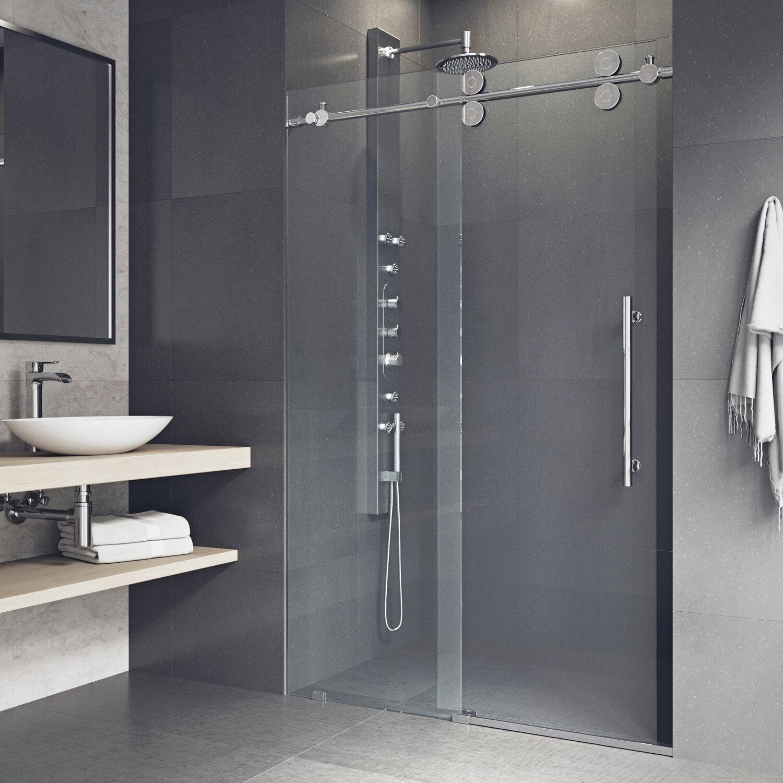 Vigo Elan 48 X 74 Single Sliding Frameless Shower Door Reviews