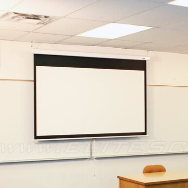 Manual SRM Pro Series White Manual Projection Screen by Elite Screens