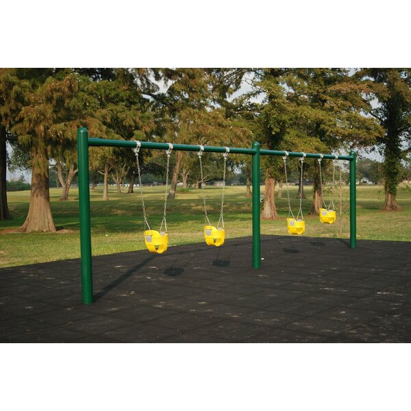 Single-Post Swing Set by Kidstuff Playsystems, Inc.