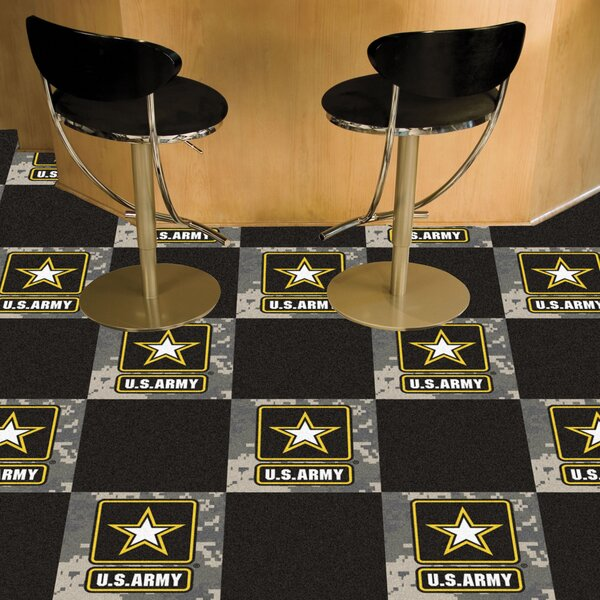 US Armed Forces 18 x 18 Carpet Tiles by FANMATS