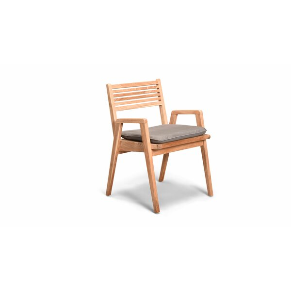 Hoff Stacking Patio Dining Chair with Cushion by Rosecliff Heights