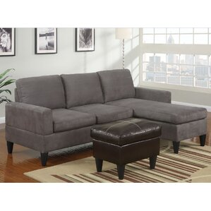 Janess Sectional  sc 1 st  Wayfair : black and grey microfiber sectional - Sectionals, Sofas & Couches