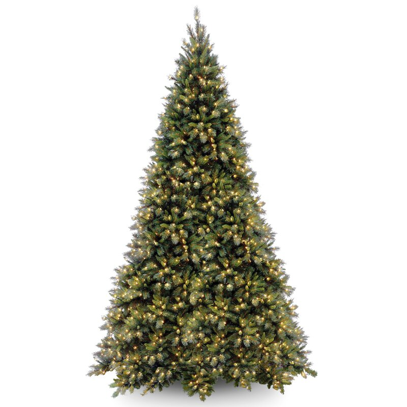 tiffany fir 12 green artificial christmas tree with 1400 clear lights and stand - 12 Christmas Tree