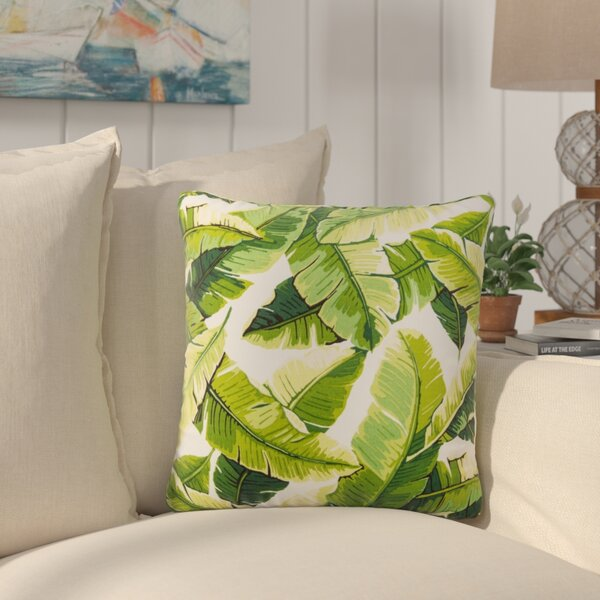 Platanissos Floral Outdoor Throw Pillow by Bay Isle Home