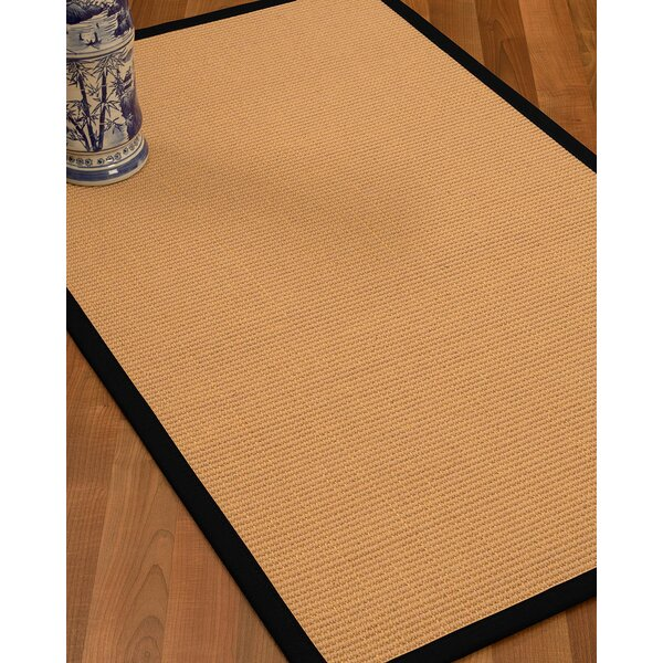 Lafayette Border Hand-Woven Wool Beige/Black Area Rug by Bay Isle Home